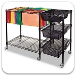Mobile File Cart with Drawers